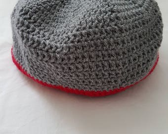 Adults crochet hat / beanie. Warm men's hat.