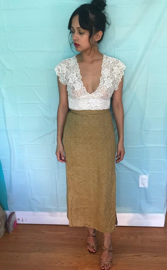 Vintage GAP mustard skirt
