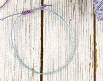Pastel Wax String Bracelet | Friendship Bracelet | Layering Bracelet | Simple Bracelet | Adjustable Bracelet |  Womens Jewelry