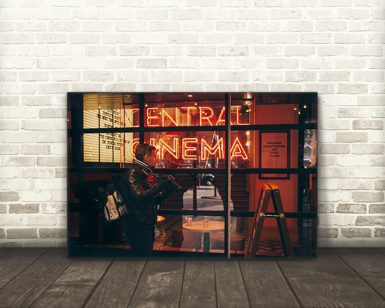 cinema home theater wall decor canvas art etsy. Black Bedroom Furniture Sets. Home Design Ideas