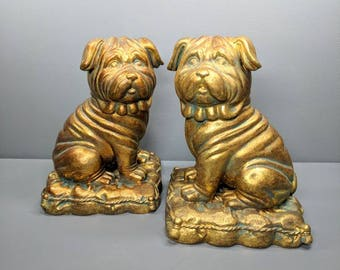 Vintage Shar pei Bookends