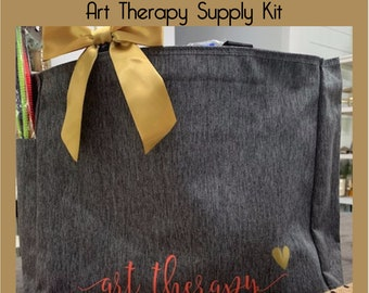 Art therapy, therapy, art kit, art supplies, art therapist, art therapy studio, Mental Health, craft supply kit, art activities for kids,
