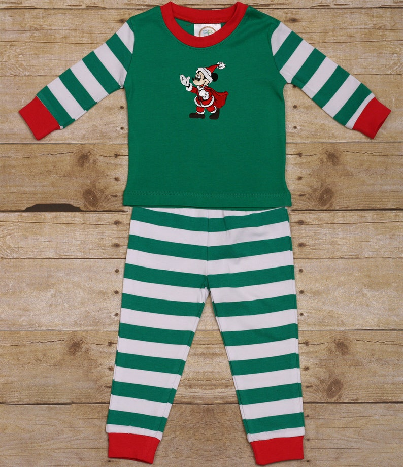 abd111822 Disney Mickey Mouse Santa Christmas Pajamas Christmas   Etsy