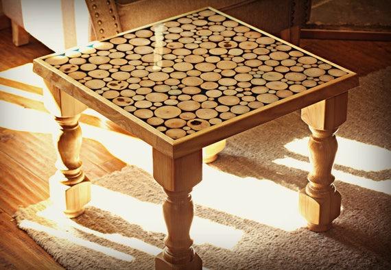 à Table main résinefrêneéclairé3D bois de séjour basse la salle fabriqué tranche bois de kTwOXZiPu