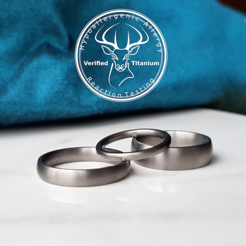 Matte Titanium Wedding Band 2mm 4mm 5mm 6mm Ring Width. image 1