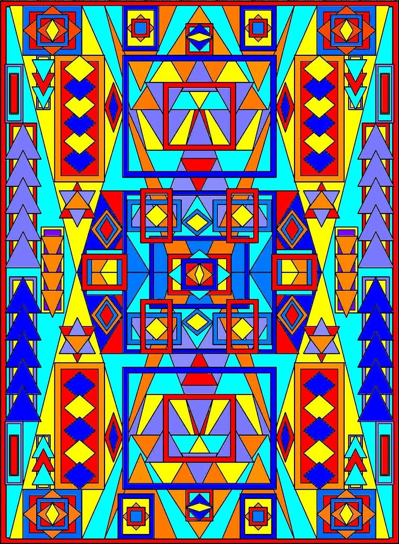 Tribal Patterns 2adult Coloring Page Instant Downloadfun Etsy