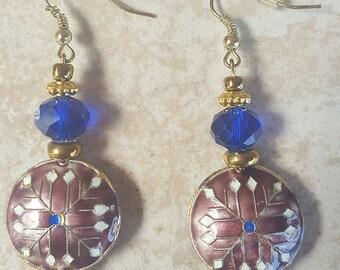 Cloisonne Bead Earrings
