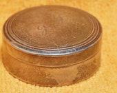 800 Silver Round Pill Snuff Box Marked Star 1900 VI