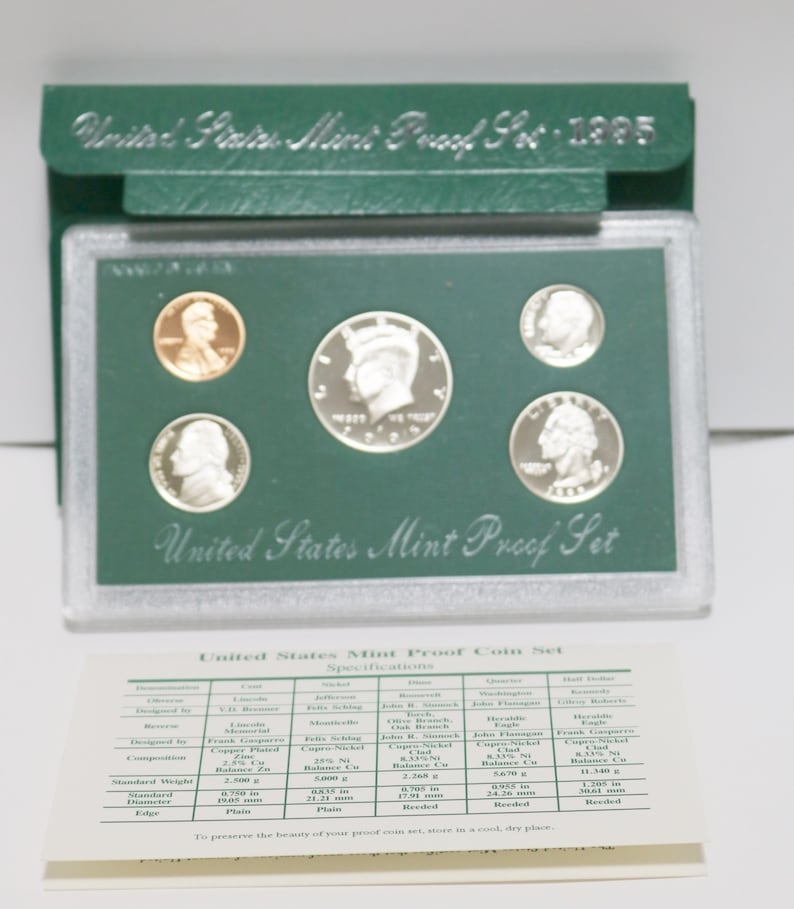 Coin Set no box or coa 5 1985-S United States Mint Proof