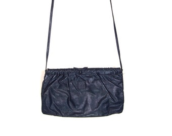 59f2f19ec6966 Anne Klein for Calderon Navy Blue Purse