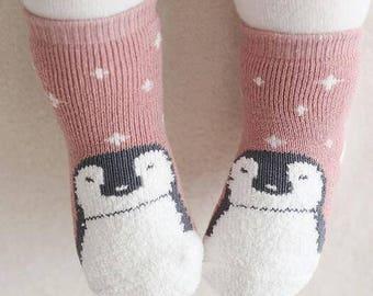 2 socks / Animal socks for kids and baby Penguin socks / 2 socks in a pack