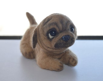 Pug pappy  felted toy