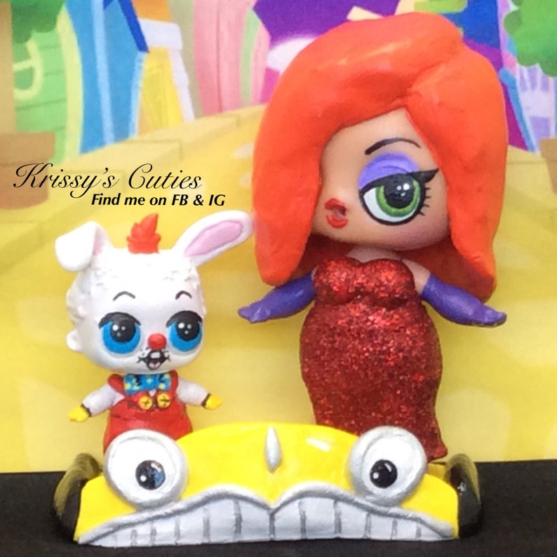 Inspired LOL Surprise Custom Roger and Jessica Rabbit Doll Set  98b4ab629d
