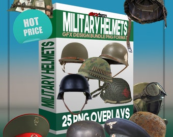 e4cb0fc1f0b Military Helmets GFX Design Bundle PNG Format - No Background Images (Army