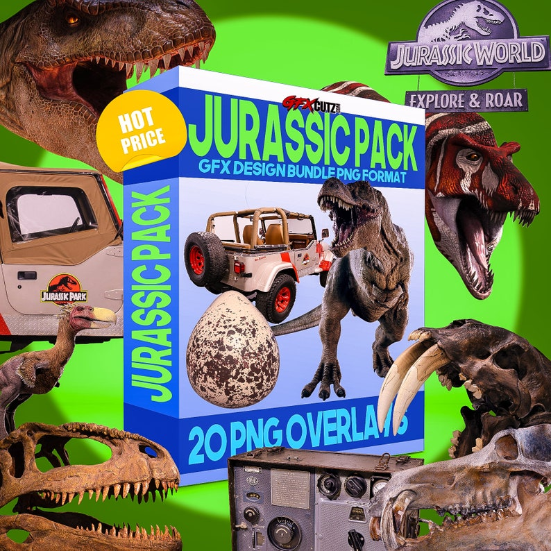 Jurassic Pack Photoshop Overlay Bundle In PNG Format (T Rex Overlays, Kids  Fantasy Overlays, Dino Overlay, Dinosaur Overlays, Jurassic Park)