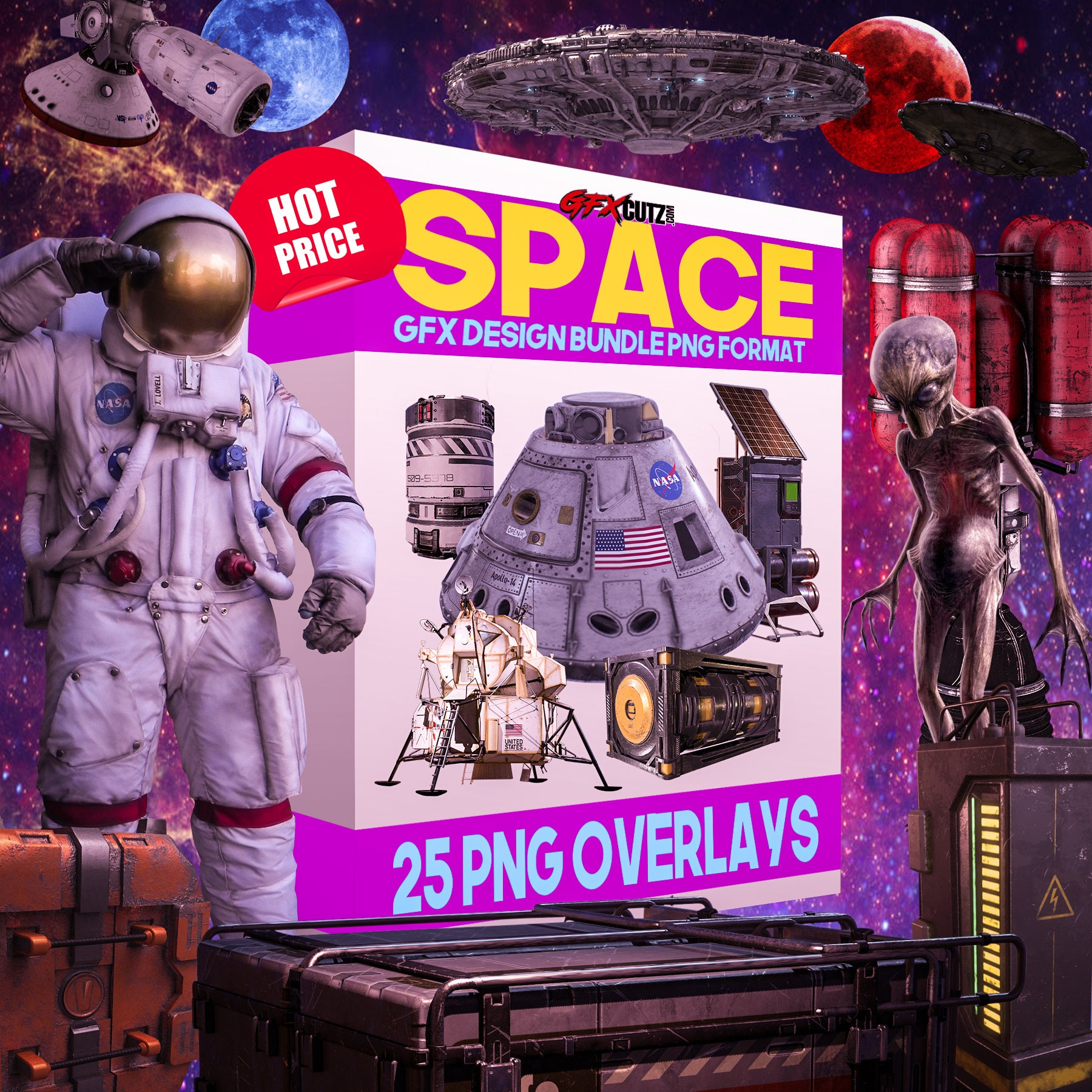 Space Overlays for Photoshop In Png Format For Your Photo