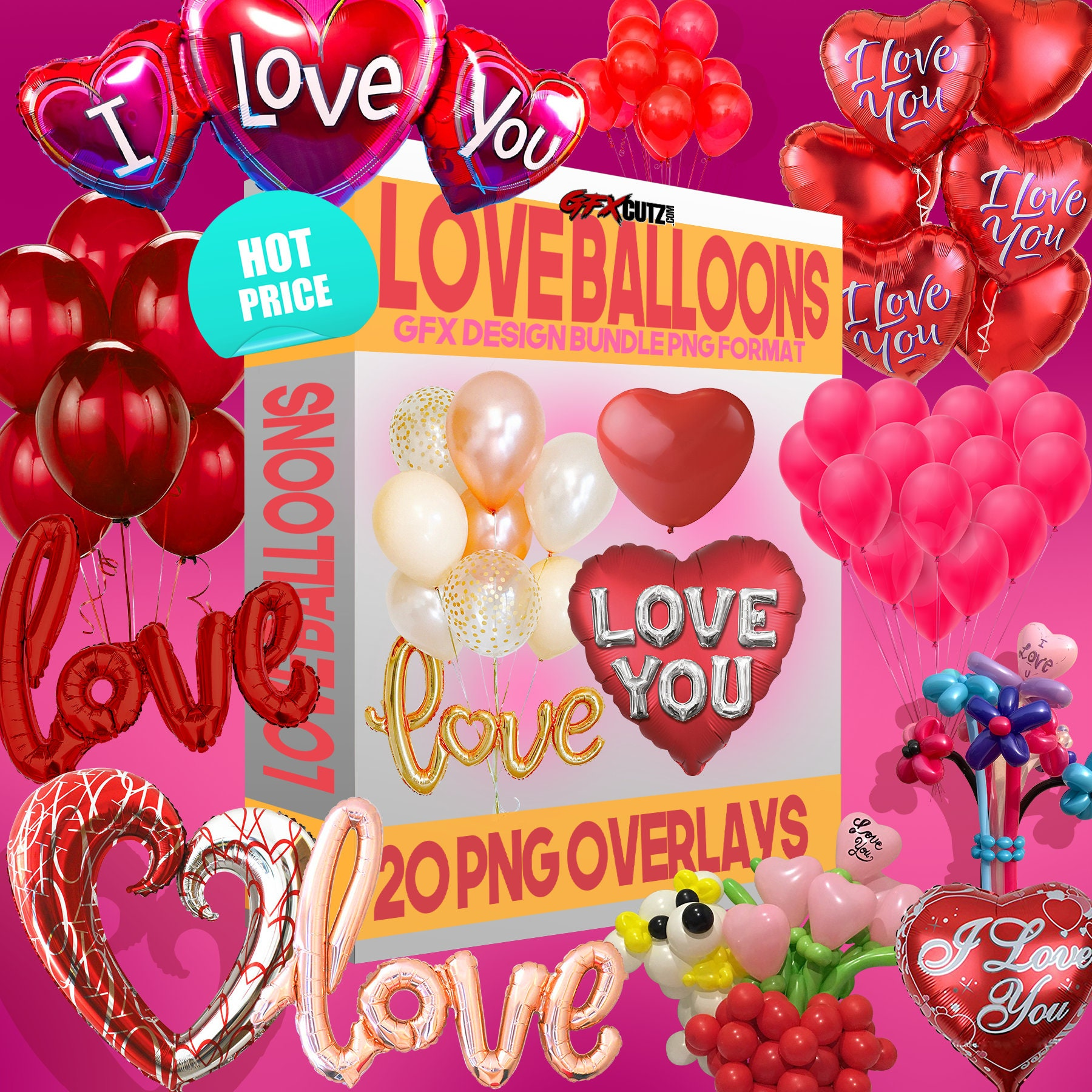 Love, Balloon Overlay, Photoshop Overlays, Png, Balloon