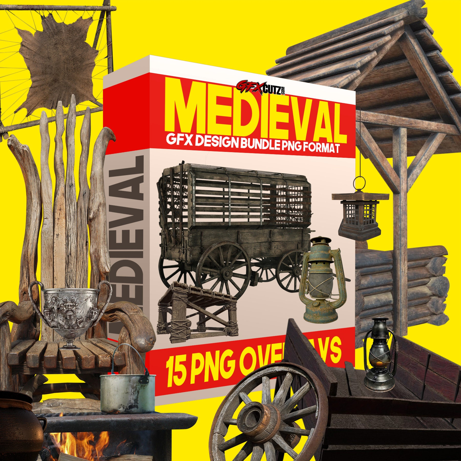 Medieval Photoshop Overlays, In PNG format great for Digital