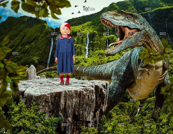 Dinosaur Backdrop 2 / Digital Background / Photoshop Overlay