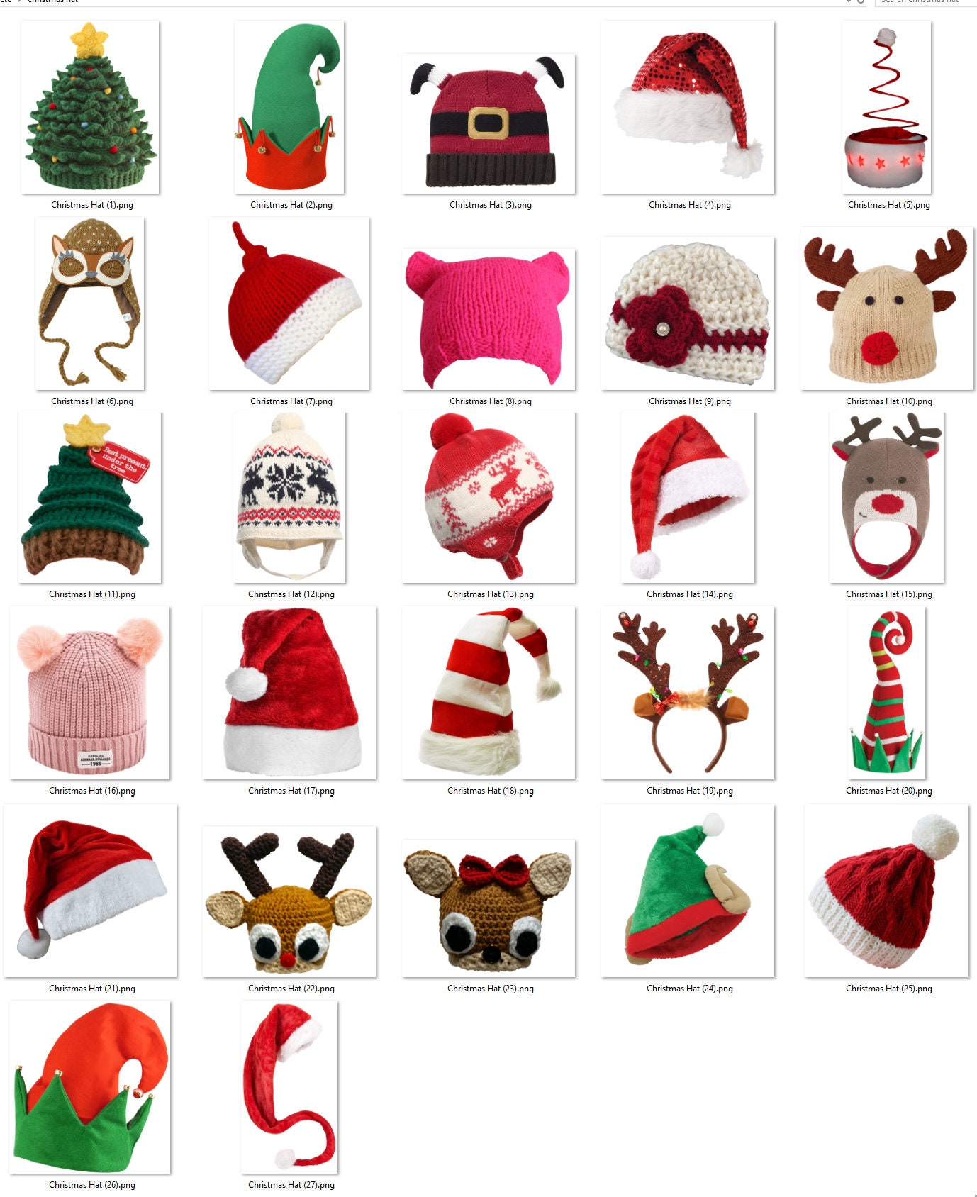 d6a75700b Holiday Hat Overlays in PNG Format - Christmas Hats, Santa Hat ...