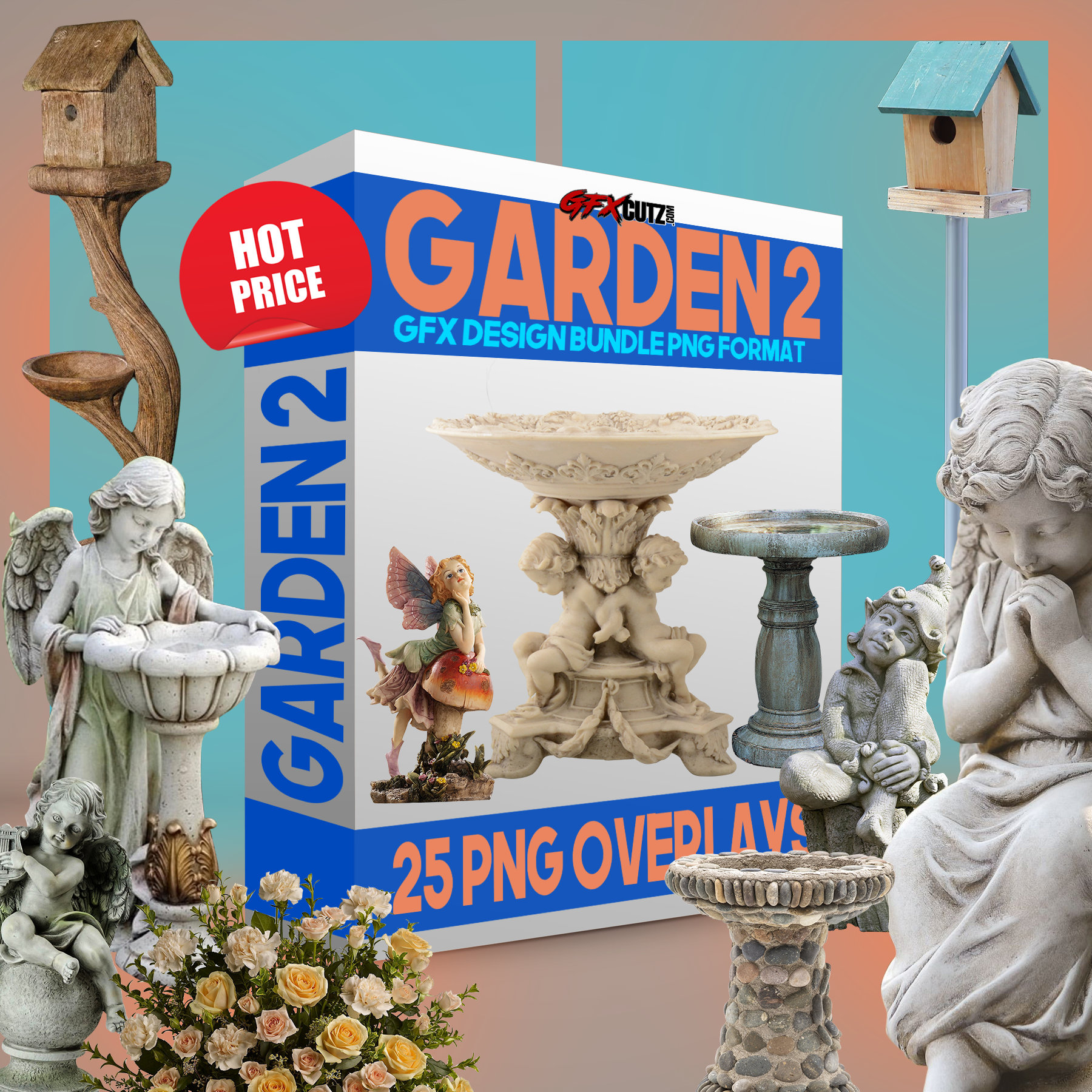 Garden V2 Photoshop Overlays, In PNG format great for