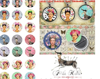 Digital collage sheet CIRCUS images 1x1 inch square for pendants charms bottlecup magnets pins hang tags craft instant download tn446