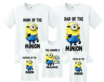 minion family Birthday t-shirts, Personalized minion family birthday shirt, birthday boy minion shirt