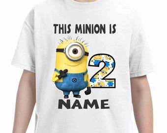 Minions Birthday t-shirt