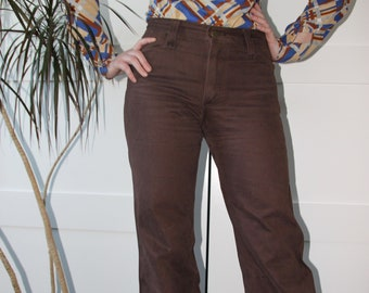 4ea4f48fa 1970s LEE Brown Bell Bottoms