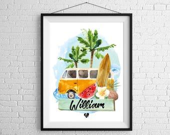 Custom poster Westfalia Surf
