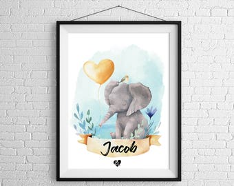 Personalized Elephant poster