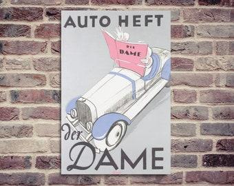 Affiche Auto Heft. Affiche Der Dame. Affiche vintage. Affiche auto vintage.