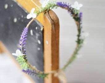 Bridal headpiece, Boho woodland hair wreath, Floral circlet, flower crown, Woodland wedding head piece, Rustic wreath, Floral headpiece