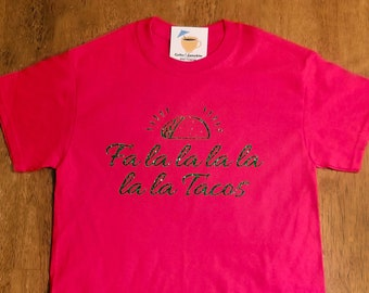 870db4875 Fa La La La Tacos Tee Shirt – Holiday Tee Shirt – Christmas Tee Shirt –  Unisex Tee Shirt