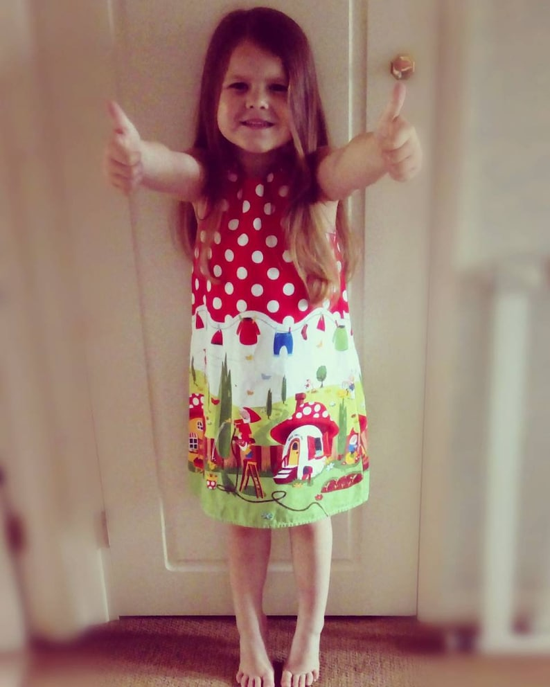toddler dress Gnomes Dress gnomesville a-line dress girls pinafore dress