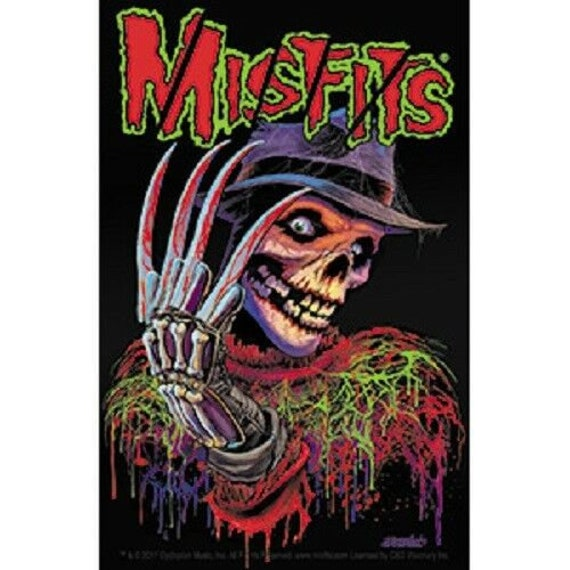 Misfits Horror Punk Rock Music Band Cover Comics Custom Poster Art Decoration