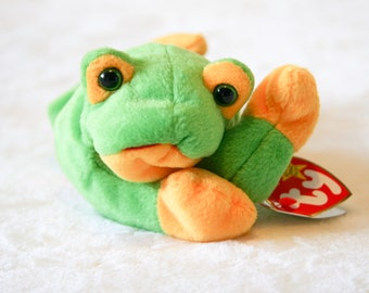Vintage Smoochy Beanie Baby Frog 1997 5d2d0416ee2