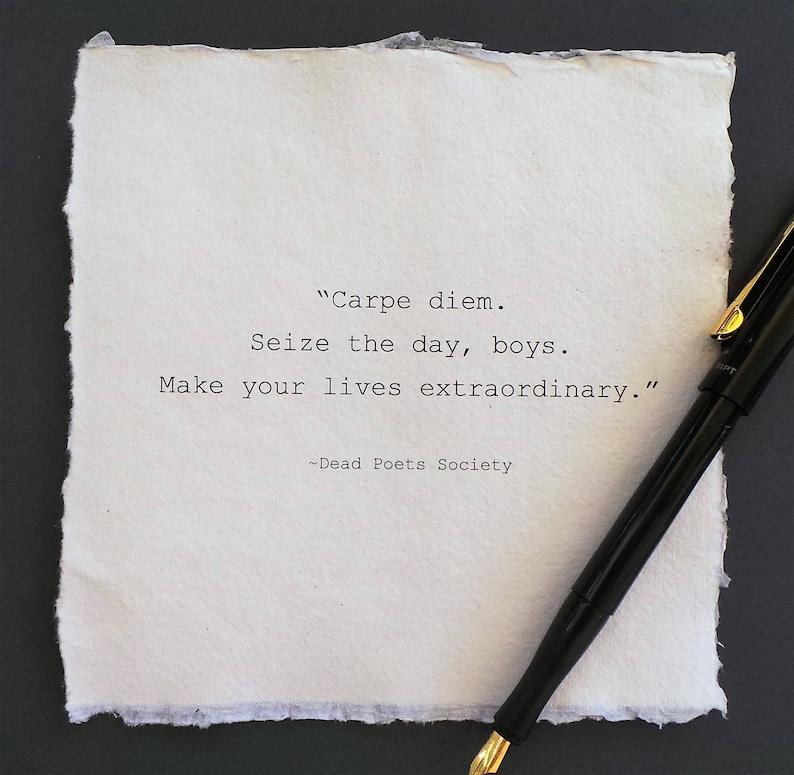 Society Quotes | Dead Poets Society Quotecarpe Diem Type Writer Font Etsy