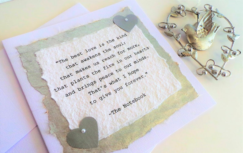 The Notebook, Typewriter font quote, Famous Quotes, Personalized Quote,  Custom Quotes,Inspirational Quotes,Hand printed Quote,Custom Quotes