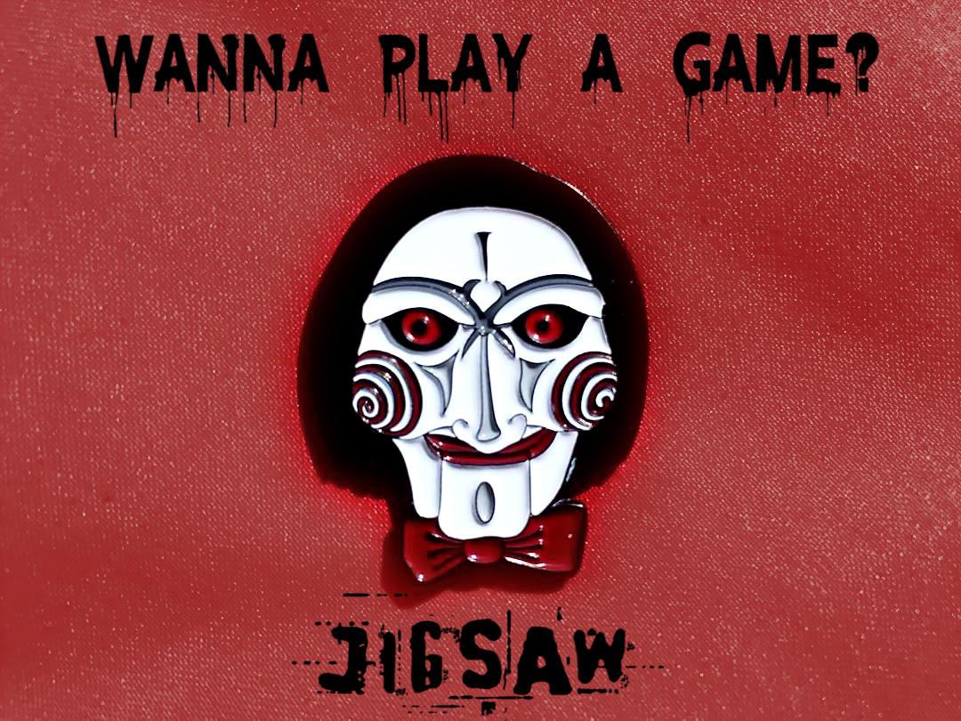 Jigsaw Enamel Pin Billy The Jigsaw SAW Movie Jigsaw