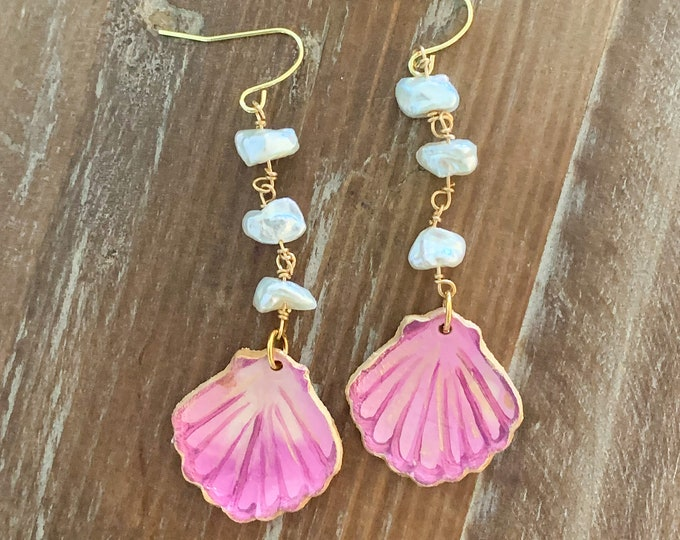 Mermaid Bling - Mini Seashell Earring in Daiquiri