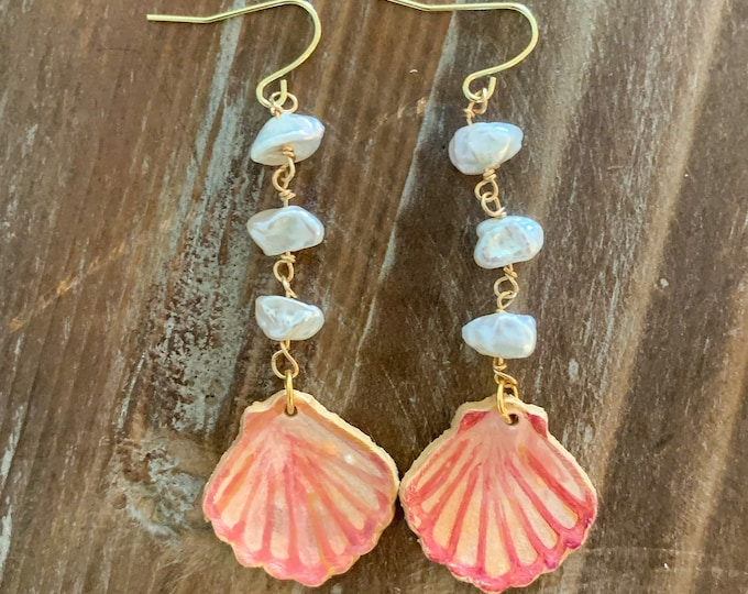 Mermaid Bling - Mini Seashell Earring in Sunset