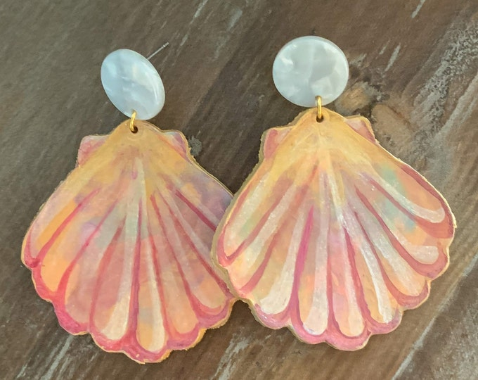 Mermaid Bling - Seashell Earring in Sunset