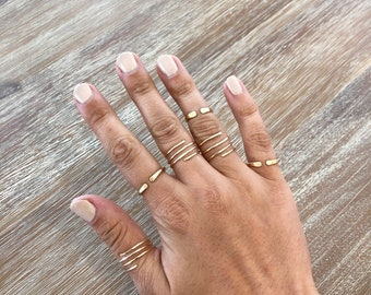 14K Gold Filled Non Tarnish Ring // Jewelry // Minimalist Swirl Rings // classic gold ring / Simple Gold Ring / Thin Gold Ring