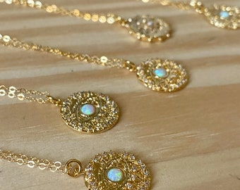 Opal Eye See You / Gold Fill Necklace / Opal Necklace / Dainty Necklace / gold necklace / cute necklace / mother's day necklace / boho