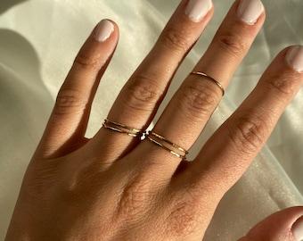 Gold Non Tarnish Ring / 14K Gold Fill Thin Band / Minimalist Gold Ring / dainty gold ring / Simple Gold Ring / Thin Gold Ring