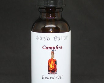 Campfire Scented Beard Oil, All Natural, Vegan, No fillers
