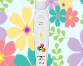 Joy Essential Oil Roll-On Perfume Oil, All-Natural, Chemical Free, Handmade Perfume