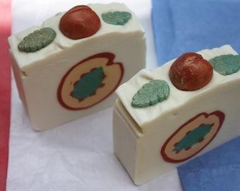 IN-PEACH-MINT Novelty Artisan Soap, Handmade Vegan Soap, Orange Man Trump, Soap Dough, Mint & Peach Scented, Cold Processed Soap - 2 Bar Set