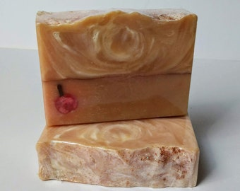 Apple Orchard Soap, Handmade Artisan Soap, Vegan Soap, Soap Dough Embed